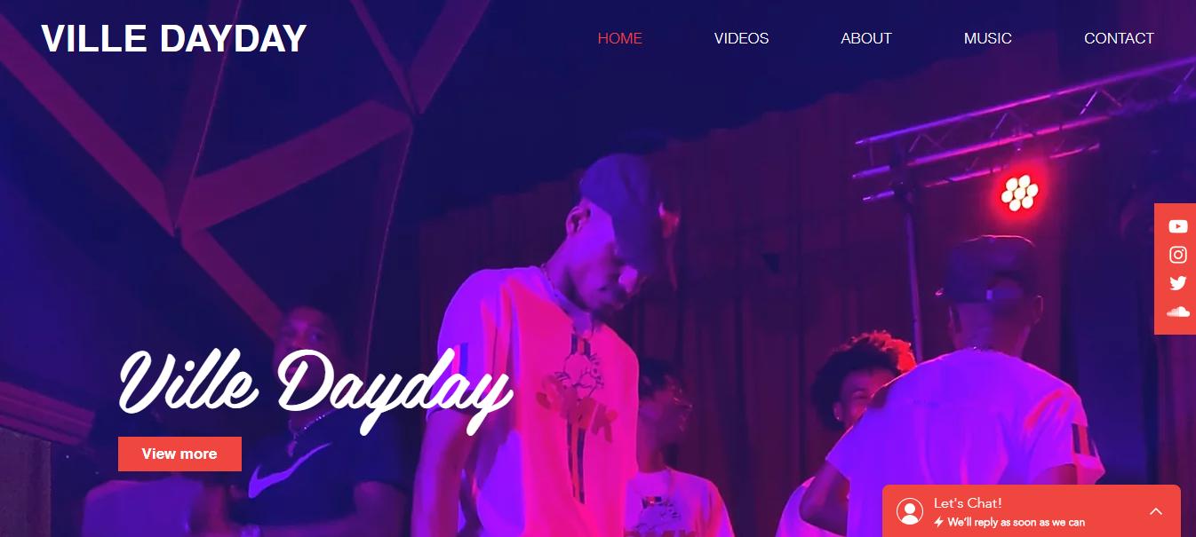 Ville Dayday Website