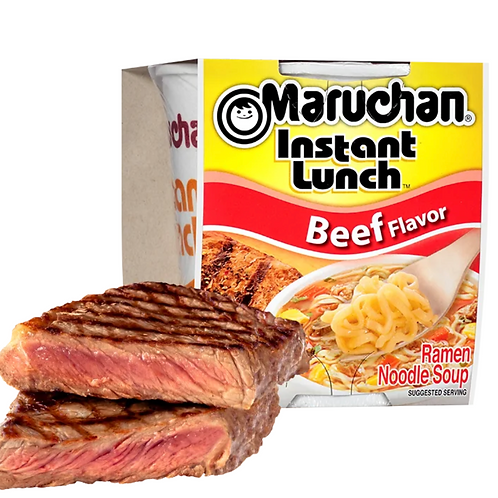 Maruchan beef flavour instant soup