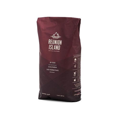 Reunion Island Colombian Las Hermosas Whole Bean Coffee