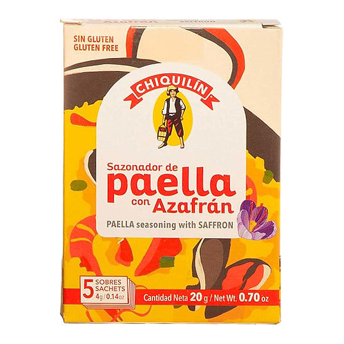 Chiquilin 5 packet flavour seasoning for paella with saffron
