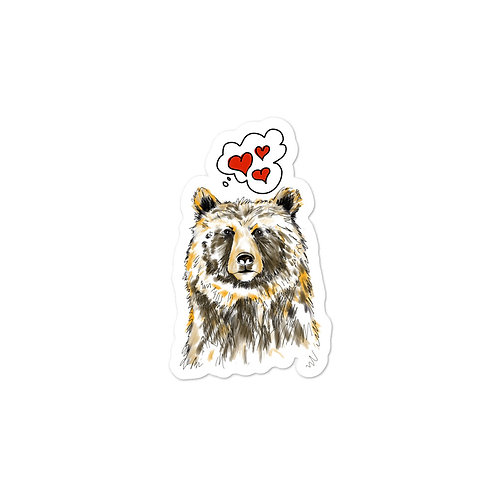 Bear in Love Bubble-free sticker