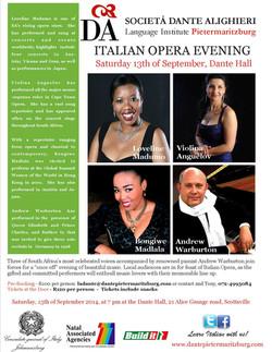 ITALIAN OPERA EVENING, 13/09