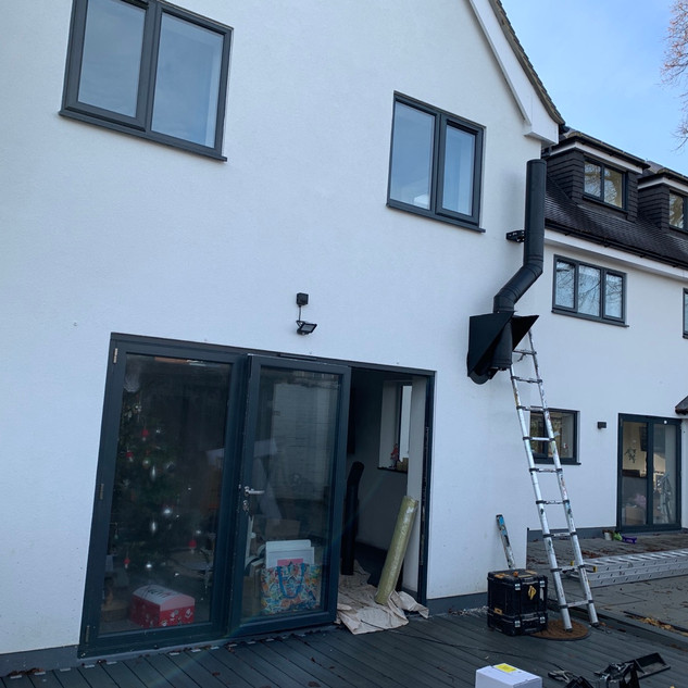 External photo of Twin wall flue system installation in Staines, Surrey