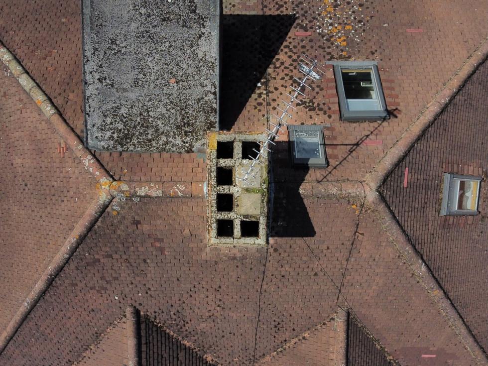 aerial drone chimney survey sunbury on t