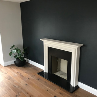 finished fireplace install in staines