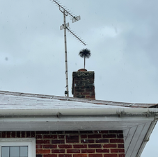 Chimney sweeping in the snow the other d