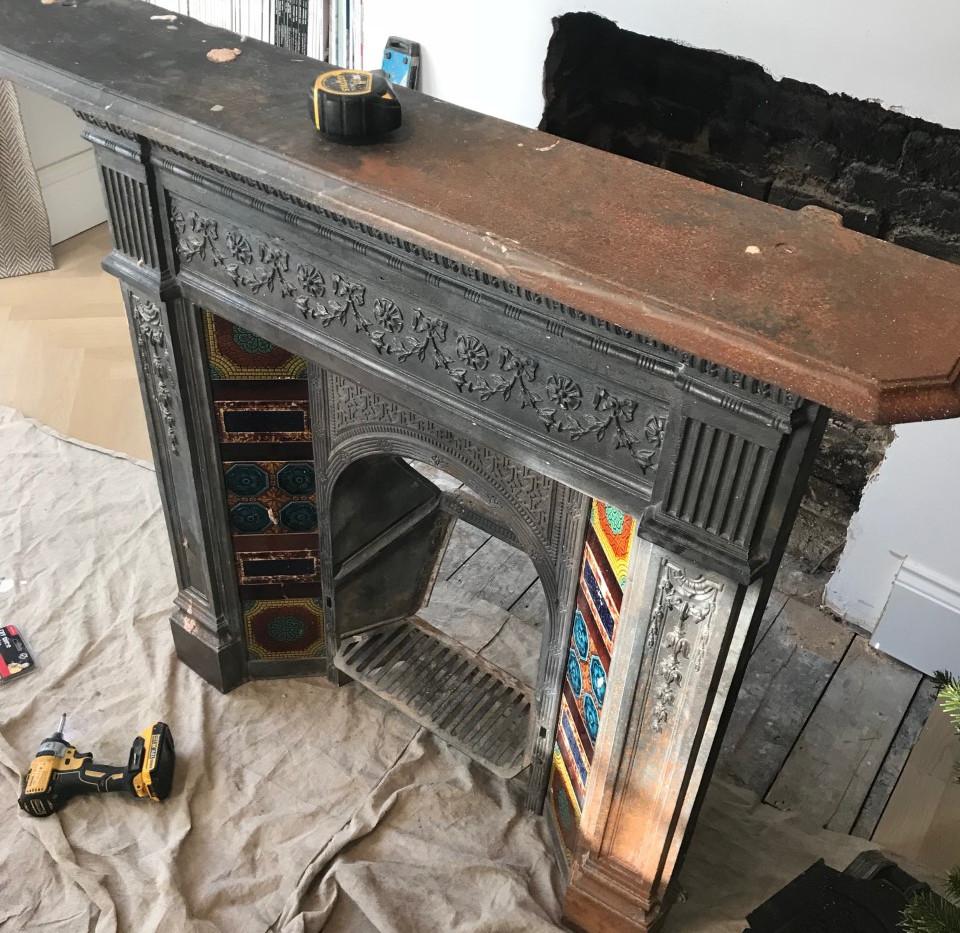restoring fireplace