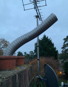 Chimney lining today in Ascot #westthame
