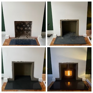 Stovax Wood Burning Stove installation B