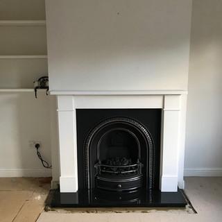 finished fireplace installation