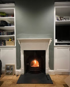 Fireplace alterations along with new Bra