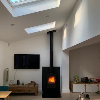Twin wall flue & stove installation toda