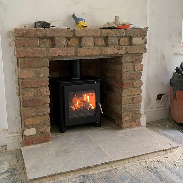 wood burning stove installation - Chobha