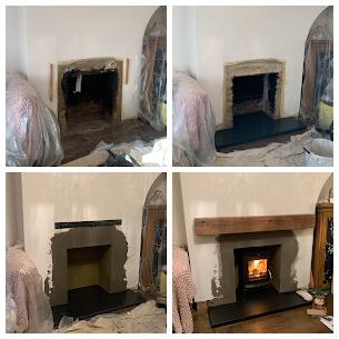 Wood stove installation in maidenhead.pn