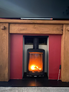 Wood burning stove installation in Horse