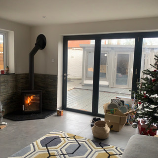 Wood burning stove installation in Staines upon Thames