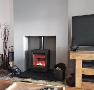 Wood burning stove installation in thorp