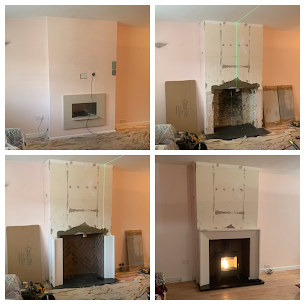 Fireplace and Wood burning stove install