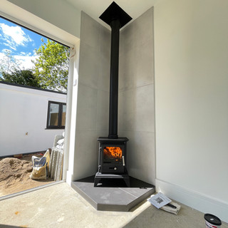 stove and twin wall flue englefield gree