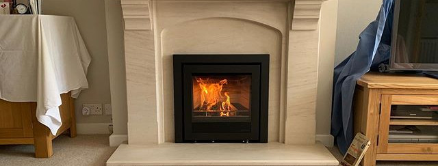 Inset Wood Burning Stove Installation As