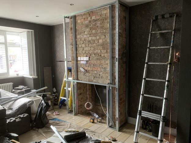 twickenham chimney breast rebuildwith in