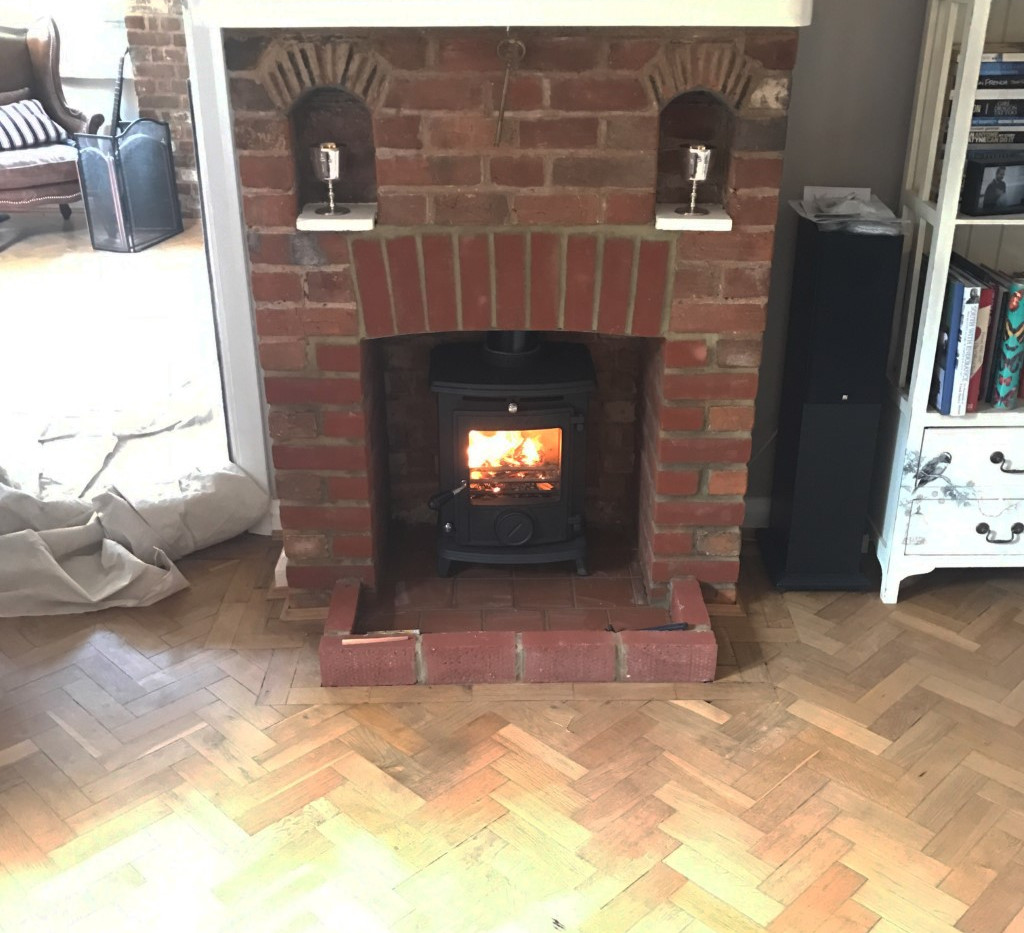 stove installation along with chamber adjustments in ascot