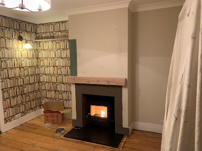 Wood burning stove installation in Stain