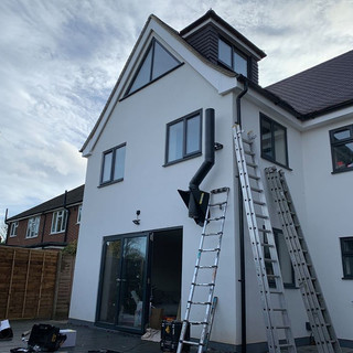 twin wall flue system installed in stain