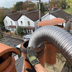 Chimney lining in Staines, preparing to