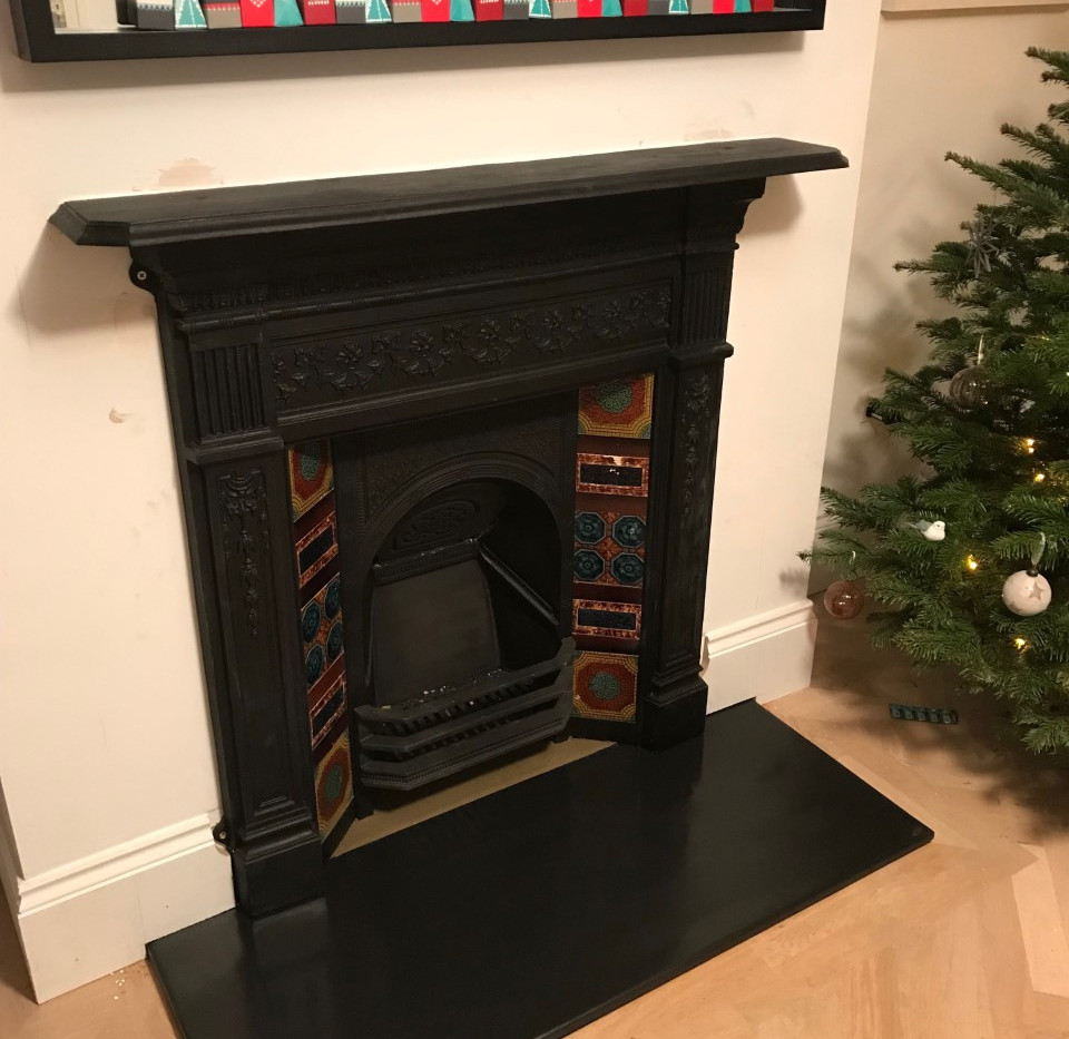 fireplace restoration completed