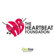 logo design THE HEARTBEAT FOUNDATION