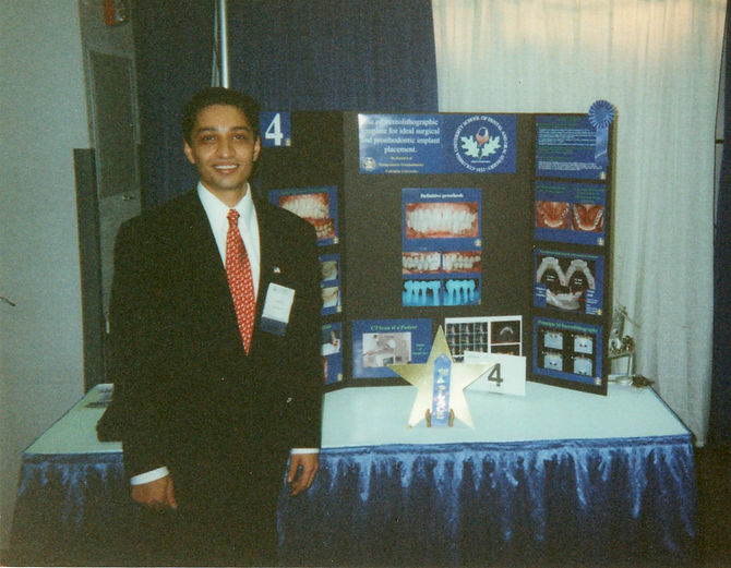 Dr. Kunal Lal with 1st Prize Award for Best Table Clinic at Amercan College of Prosthodontists An