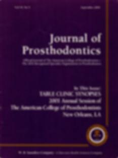 Journal of Prosthodontics September 2001 Issue