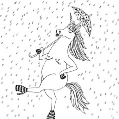 Trans-icorn Prances Through Rain Drops