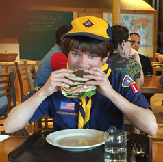 Kelly loves a sandwich