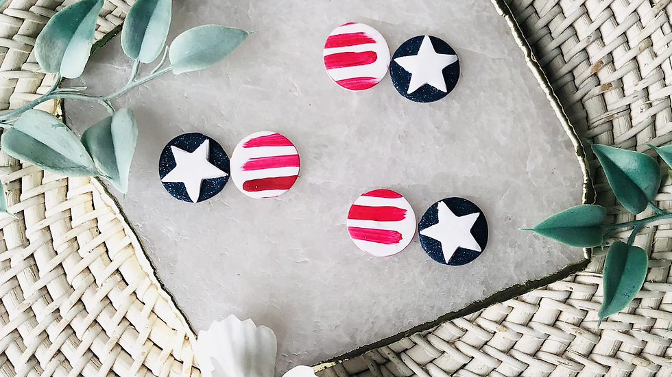 Stars and Stripes 3/4 inch Studs