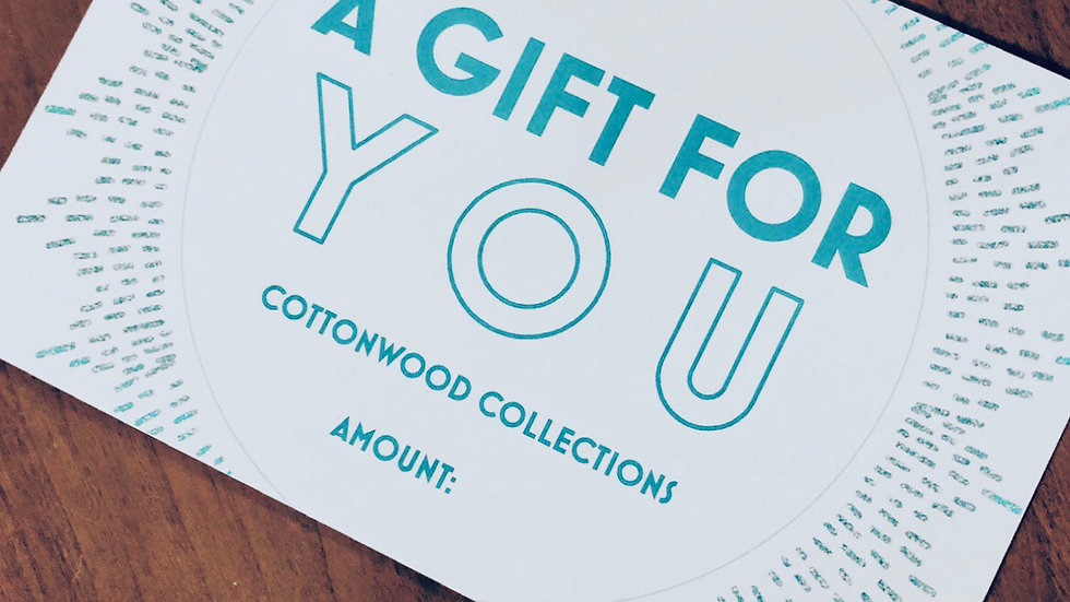 Cottonwood Collections Gift Card