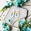 Thumbnail: The Lucy in Light Blue, Tan & White Floral, and White