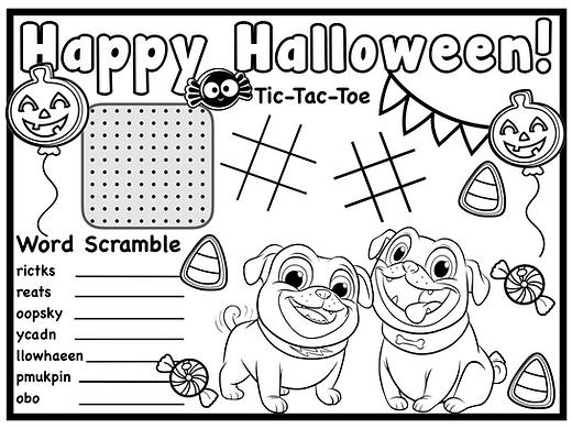 Puppy Dog Pals Halloween Free Printable.
