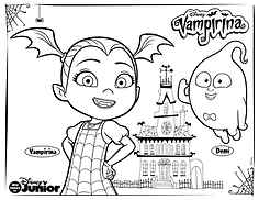 Vampirina and Demi Coloring Page.png