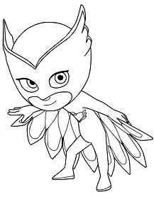 PJ Mask Owlette Printable Coloring Page.
