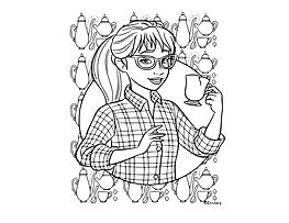 Claire Coloring Page Fancy Nancy small.p
