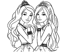 Barbie Twins Coloring Page.png