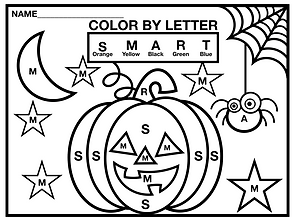 Halloween Pumpkin Color by Letter.001.pn