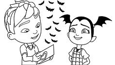 Vampirina and Edgar Valentine Coloring P