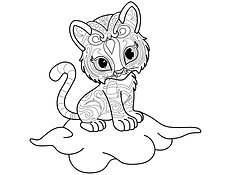 Nahal Shimmer and Shine Coloring Page.pn