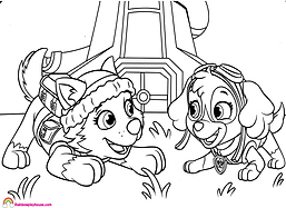 Paw Patrol Skye and Everest Printable Co