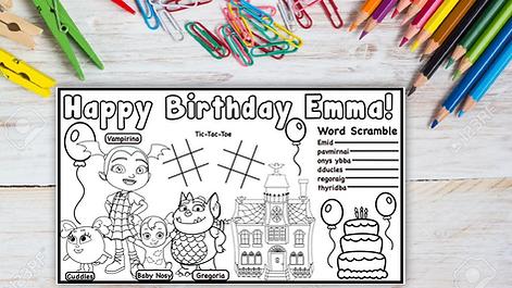 Etsy Thumbnail Vampirina Birthday Placem