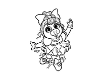 Miss Piggy Ballerina gray.png