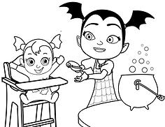 Vampirina Babysitting Feeding Baby Nosy